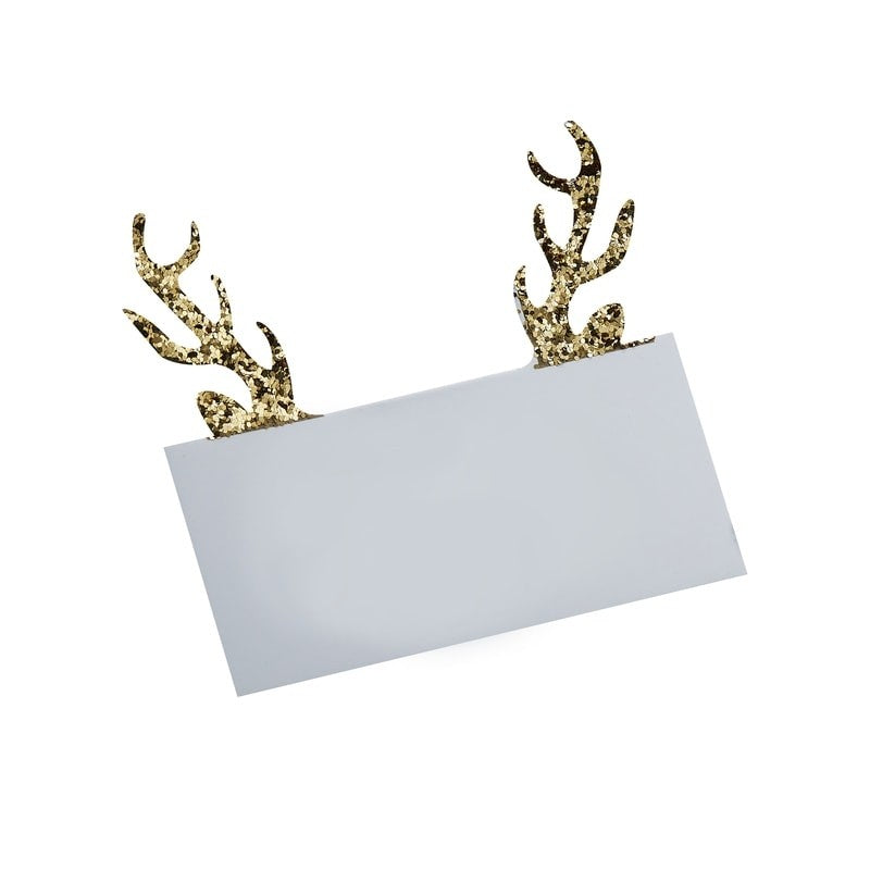 Ginger Ray Gold Glitter Antler Placecards  | Putti Canada