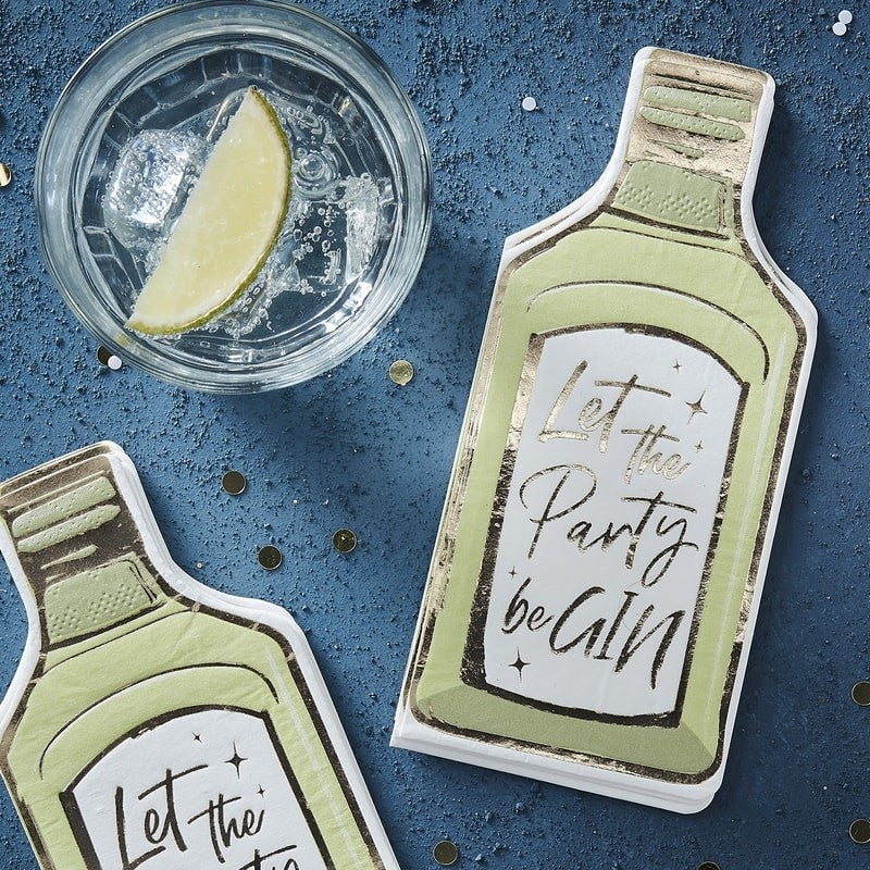 "Ginger Ray ""Let the Party be Gin"" Paper Napkins 