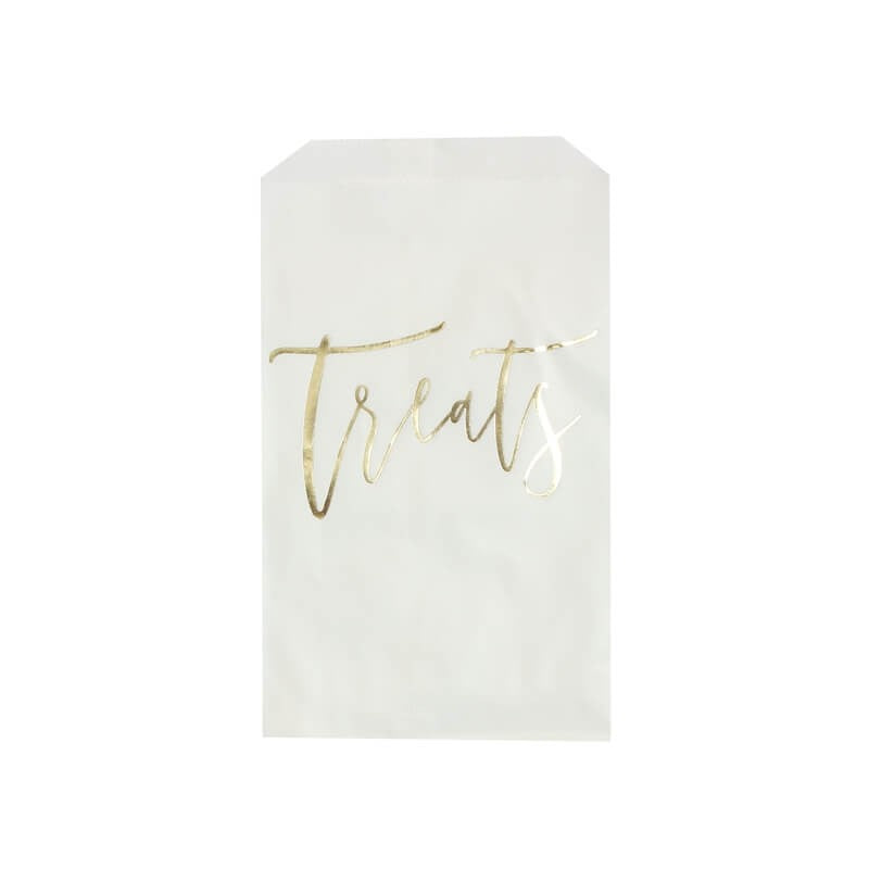 "Ginger Ray Gold ""Treats"" Candy Bags 