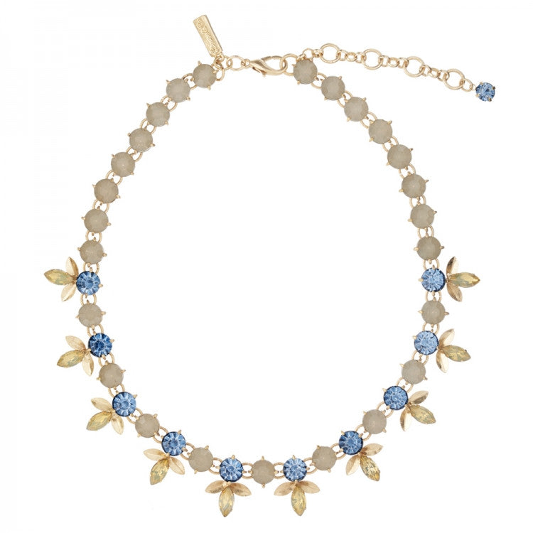 "Lovett & Co. ""Laurel Leaf"" Necklace - Blue -  Jewelry - Lovett & Co. - Putti Fine Furnishings Toronto Canada"