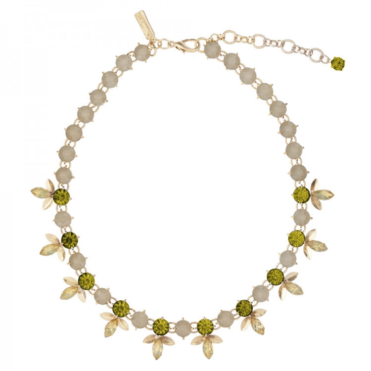 "Lovett & Co. ""Laurel Leaf"" Necklace - Khaki Green -  Jewelry - Lovett & Co. - Putti Fine Furnishings Toronto Canada"