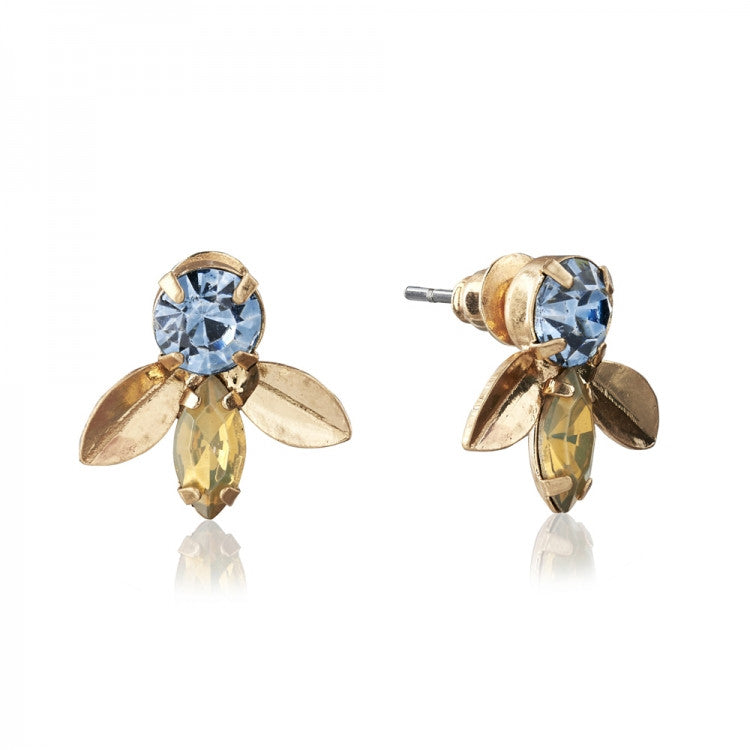 "Lovett & Co. ""Laurel Leaf"" Earrings - Blue"
