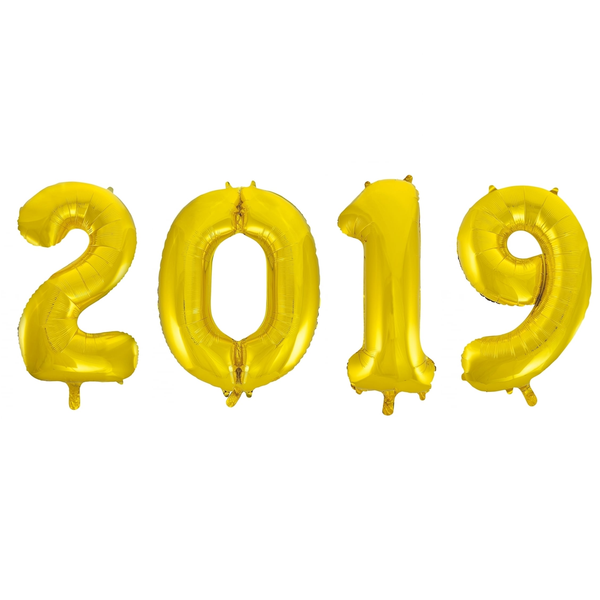"Gold Foil Number Balloon 16"" - 2019"