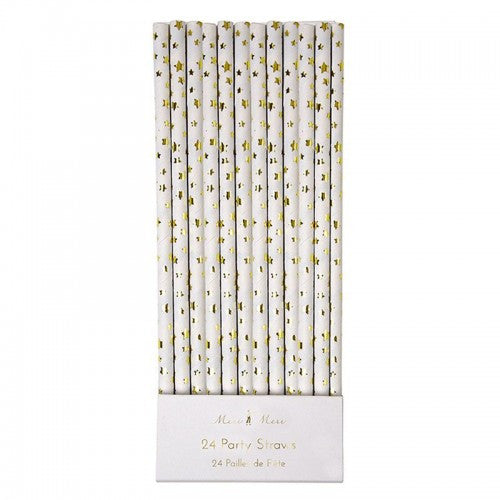 Gold Foil Star Straws, MM-Meri Meri UK, Putti Fine Furnishings