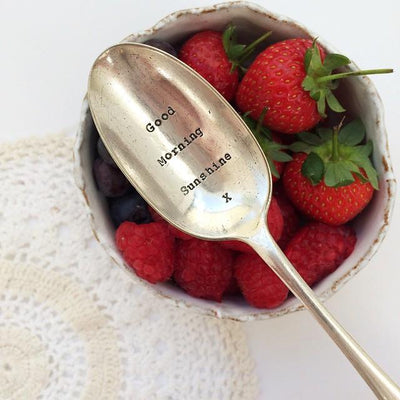 """Good Morning Sunshine"" Vintage Desert/Cereal Spoon"
