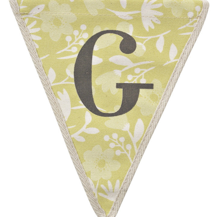 Meri Meri Alphabet Bunting - Letter G, MM-Meri Meri UK, Putti Fine Furnishings
