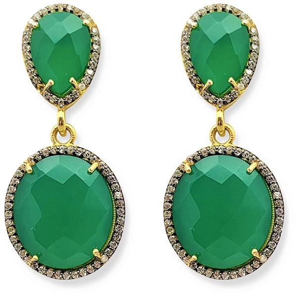 Green Onyx Double Drop Earrings | Valentine Rouge | Toronto, Canada