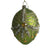 Green Glass Egg Ornament with Swags