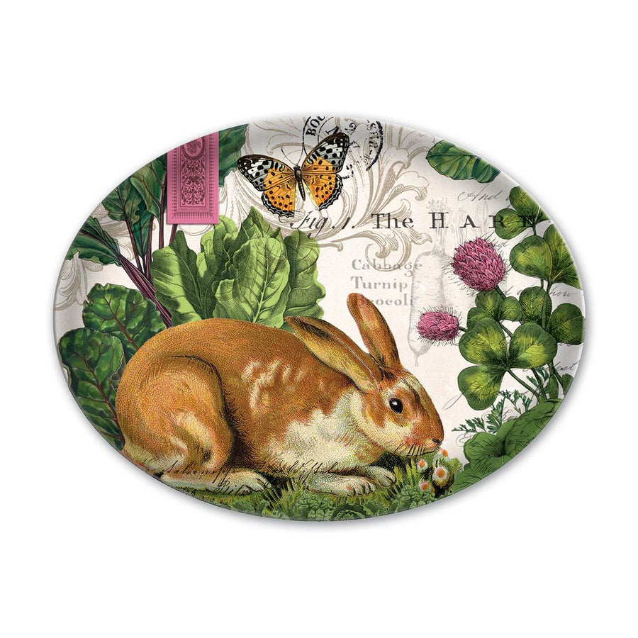 Michel Design Works Garden Bunny Oval Glass Soap Dish | Putti Fine Furnishings