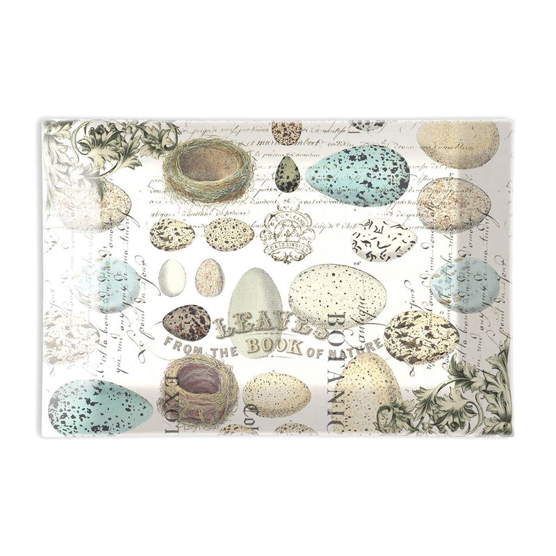 Michel Design Works Nest & Eggs Rectangular Glass Soap Dish