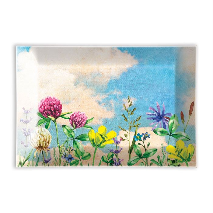 """Cloud Nine"" Rectangular Glass Soap Dish"