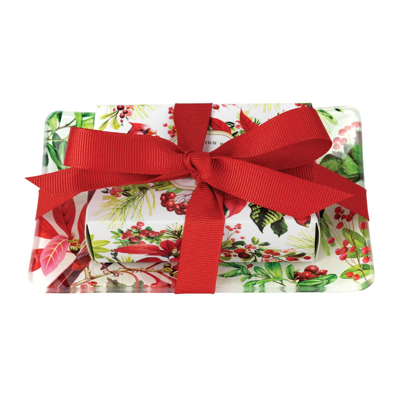 Michel Design Works Poinsettia Gift Soap Set | Putti Christmas Canada
