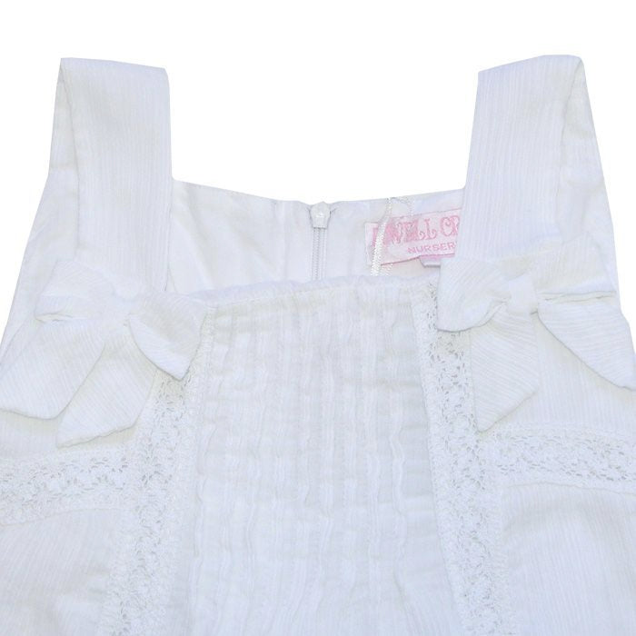 """Clara"" White Lawn Dress-Children's Clothing-PC-Powell Craft Uk-Age 6-7-Putti Fine Furnishings"