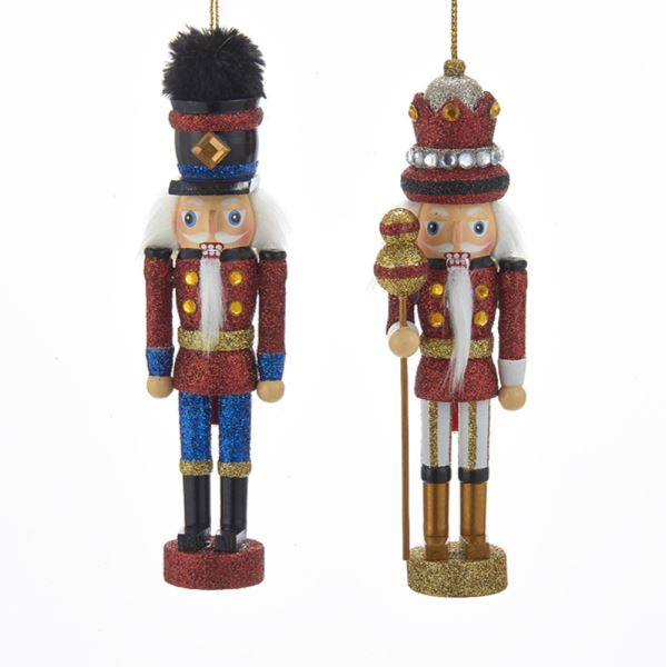 Hollywood Red and Black Soldier and King Nutcrackers
