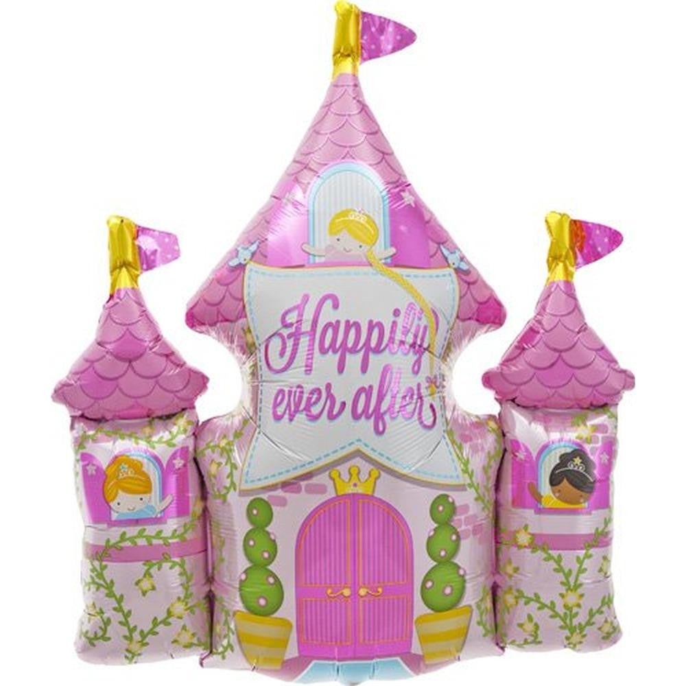 """Happily Ever After"" Castle Mylar Balloon"