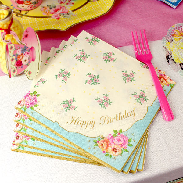 Happy Birthday Napkin -  Paper Napkins - Talking Tables - Putti Fine Furnishings Toronto Canada - 4
