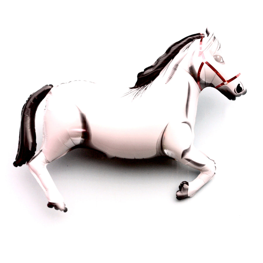 Giant Mylar Horse Balloon - White