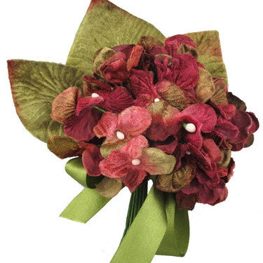 Miss Rose Sister Violet Hydrangea Posy - Burgundy, MRSV-Miss Rose Sister Violet, Putti Fine Furnishings