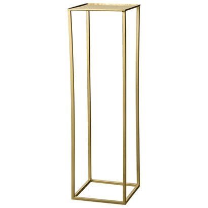 Bloomingville Gold Cube Tall Pedestal