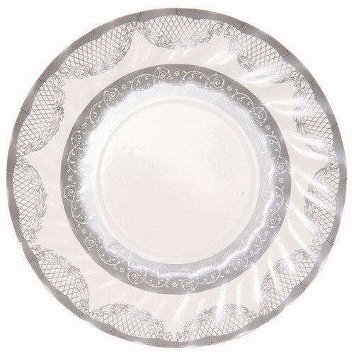 Party Porcelain Silver Small Paper Plates -  Party Supplies - Talking Tables - Putti Fine Furnishings Toronto Canada - 3