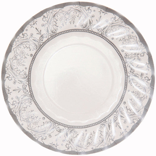 Party Porcelain Silver Small Paper Plates -  Party Supplies - Talking Tables - Putti Fine Furnishings Toronto Canada - 2