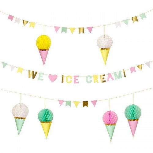 "Meri Meri ""Ice Cream Party"" Garland, MM-Meri Meri UK, Putti Fine Furnishings"
