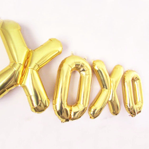 "Gold Foil ""XOXO"" Balloon Banner"