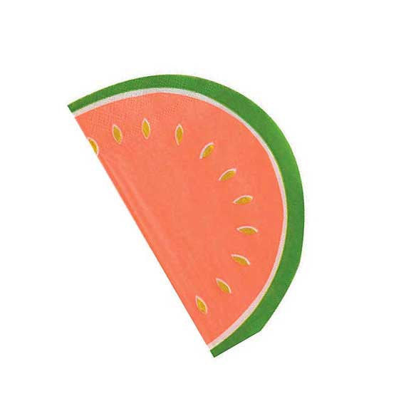 "Meri Meri ""Watermelon"" Napkins - Large, MM-Meri Meri UK, Putti Fine Furnishings"