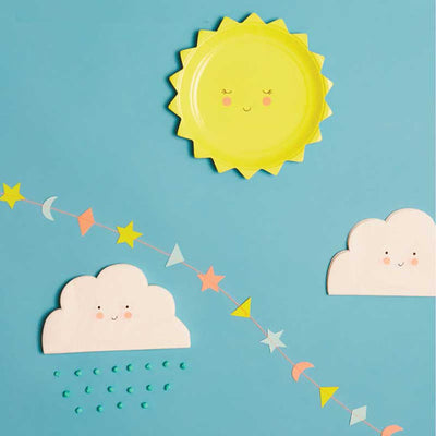Cloud Shaped Paper Napkins - Small, MM-Meri Meri UK, Putti Fine Furnishings