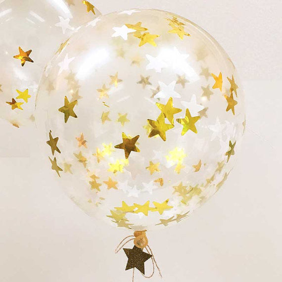 Meri Meri Confetti Balloon Kit - Gold Stars