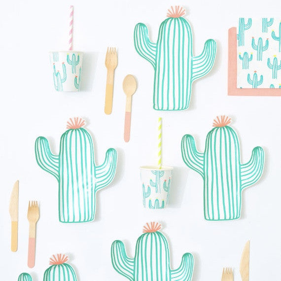 "Meri Meri ""Cactus"" Paper Plates, MM-Meri Meri UK, Putti Fine Furnishings"