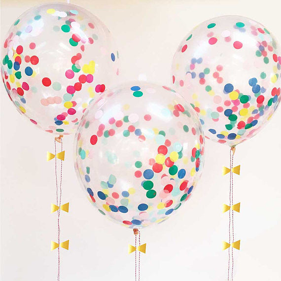 Meri Meri Confetti Balloon Kit - Multicolor Brights