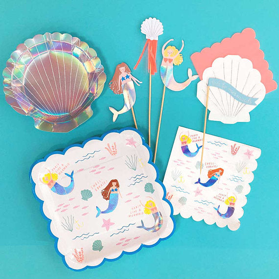 "Meri Meri ""Let's be Mermaids"" Paper Napkins - Large"