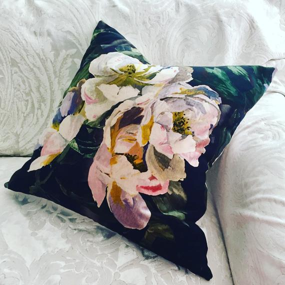 Designers Guild Delft Flower Noir Cushion