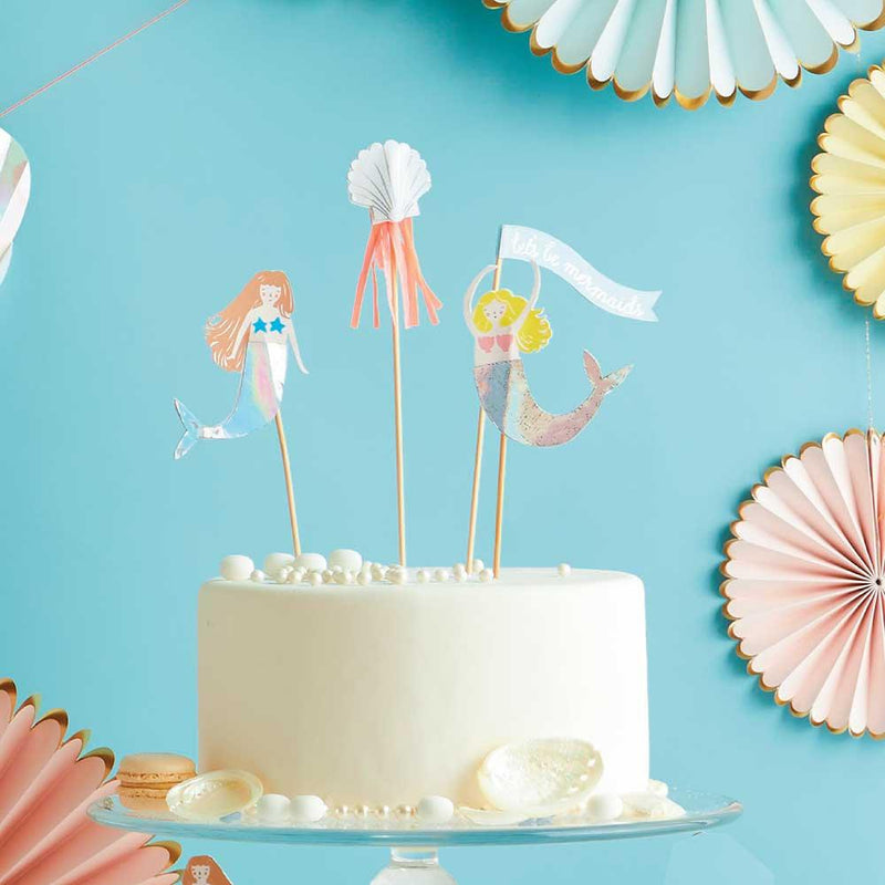 "Meri Meri ""Let's be Mermaids"" Cake Toppers"