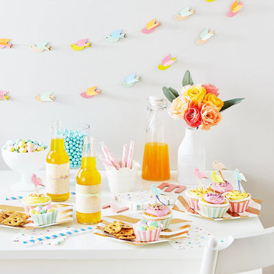 "Meri Meri ""Pretty Birdie"" Cupcake Kit -  Party Supplies - Meri Meri UK - Putti Fine Furnishings Toronto Canada - 5"