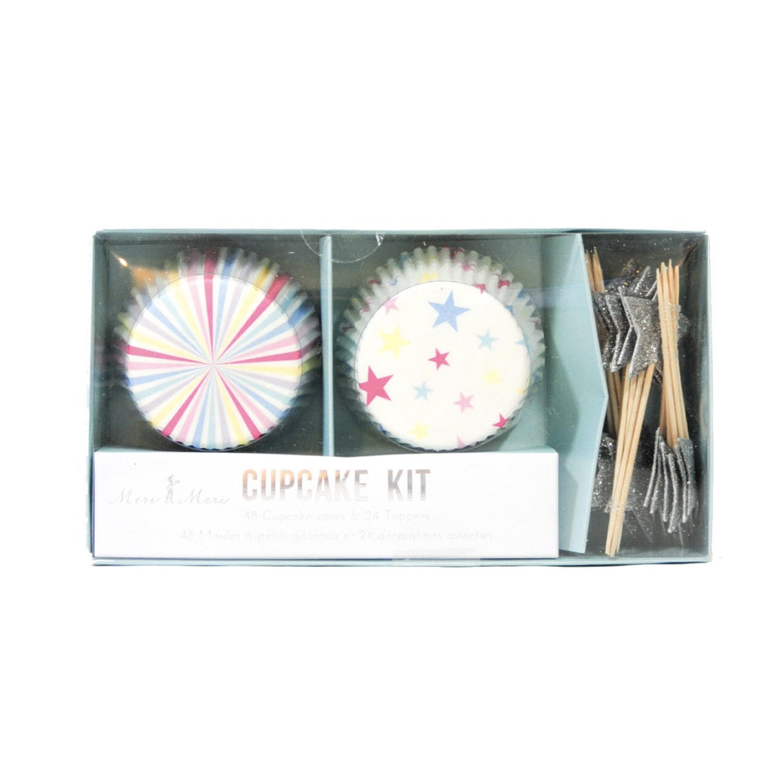 "Pastel ""Stars and Stripes"" Cupcake Kit, MM-Meri Meri UK, Putti Fine Furnishings"