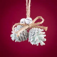 Mint Green Pinecone Ornament, TL-Triflora Limited UK, Putti Fine Furnishings