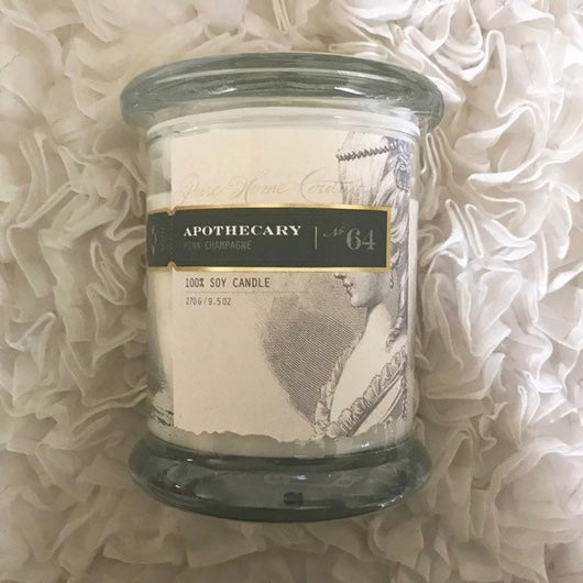 Apothecary Candle by Pure - Pink Champagne No. 64