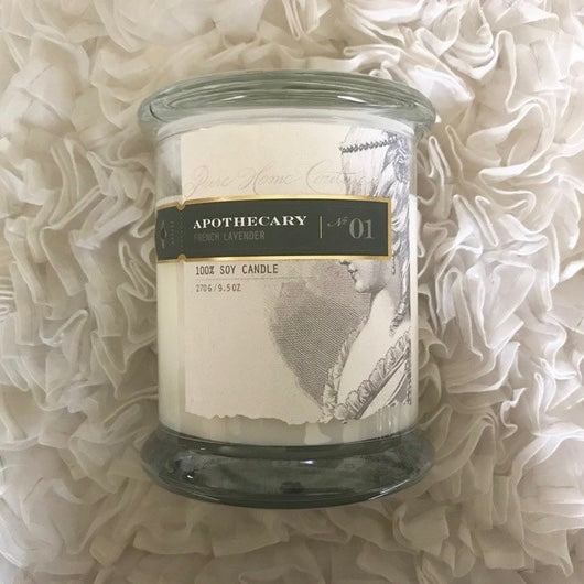 Apothecary Candle by Pure - French Lavender No. 01-Candles-PHC-Pure Home Couture-Putti Fine Furnishings
