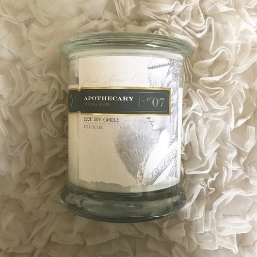 Apothecary Candle by Pure - Vintage Peony No. 07-Candles-PHC-Pure Home Couture-Putti Fine Furnishings