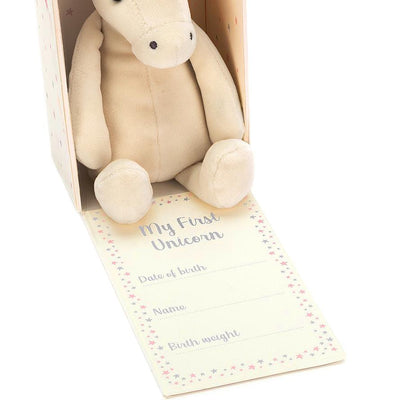 "Jellycat ""My First Unicorn"" Soft Toy in Gift Box 