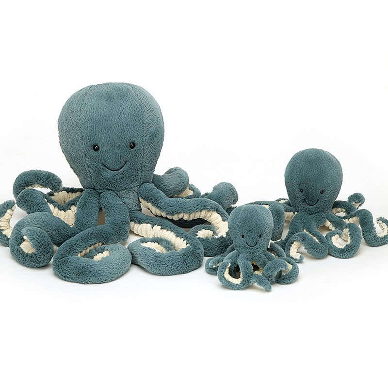Jellycat Storm Blue Octopus Stuffed Toy | Le Petite Putti Canada