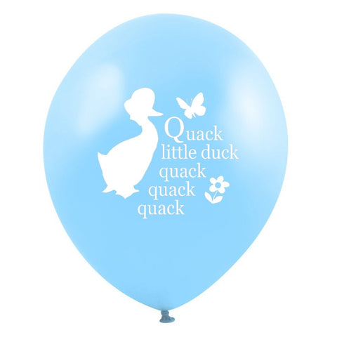 "Jemima Puddle Duck ""Quack little duck...quack quack quack"" Balloon - Blue-Party Supplies-VA-Vintage AngelVA-Vintage Angel-Balloon-Putti Fine Furnishings"