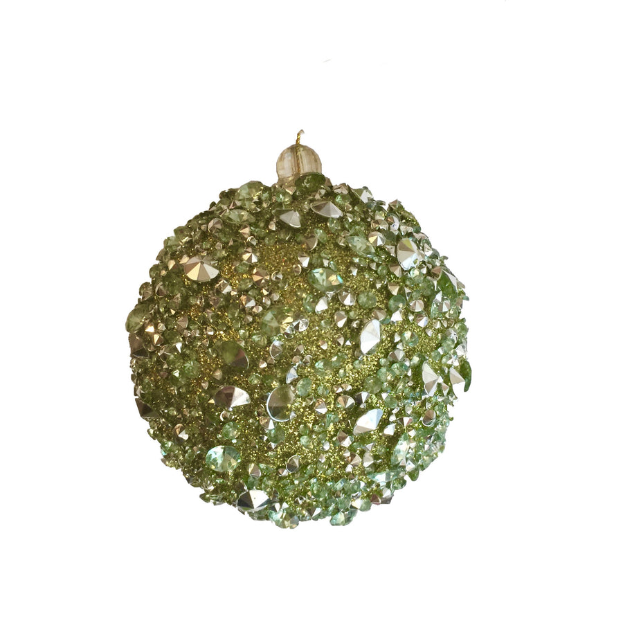 Green Glitter Ball with Crystals