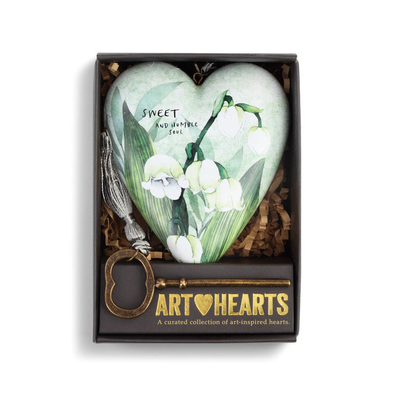 "Demdaco ""May"" Lily of the Valley Birth Flower Art Heart 