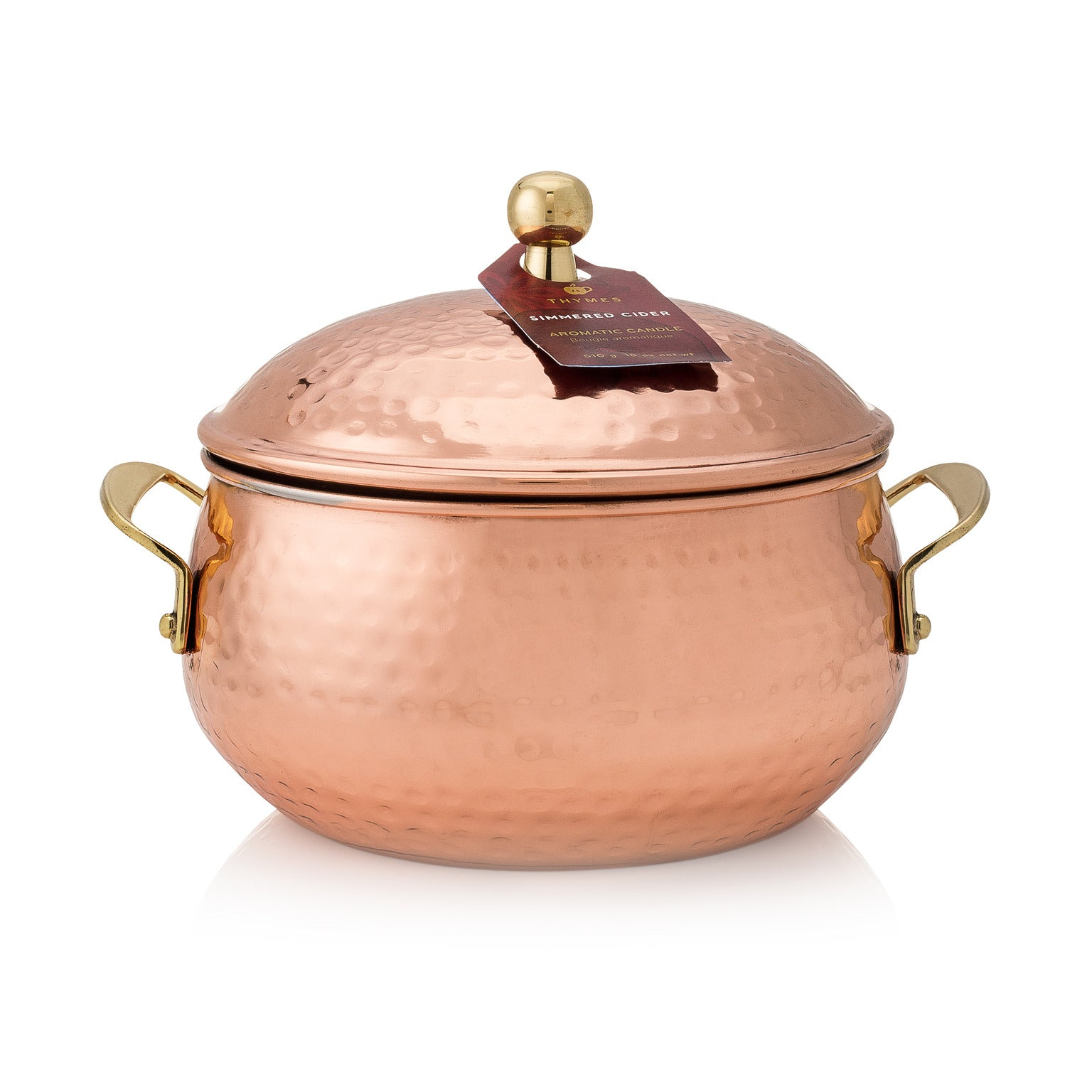 Thymes Simmered Cider Copper Pot Candle