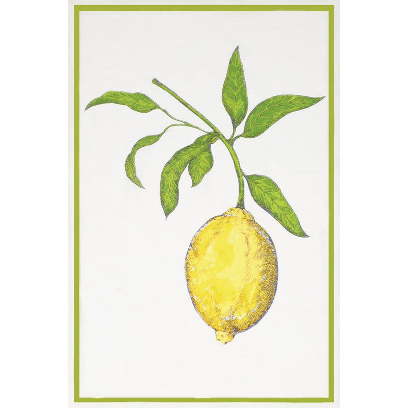 Lemon Flour Sack Kitchen Towel - Set of 2 |Putti Fine Furnishings