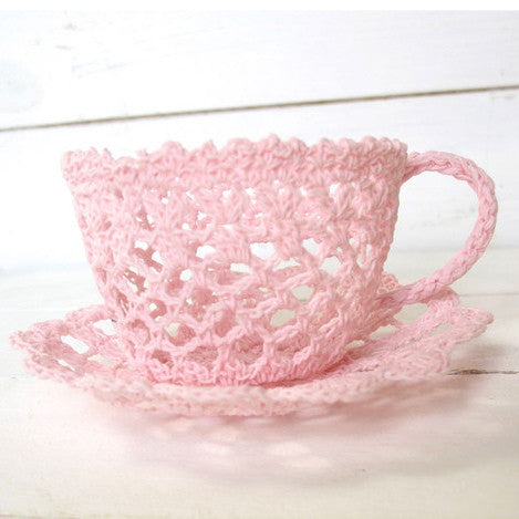 Miss Rose Sister Violet - Lace Teacup Ornament -  Accessories - Miss Rose Sister Violet - Putti Fine Furnishings Toronto Canada