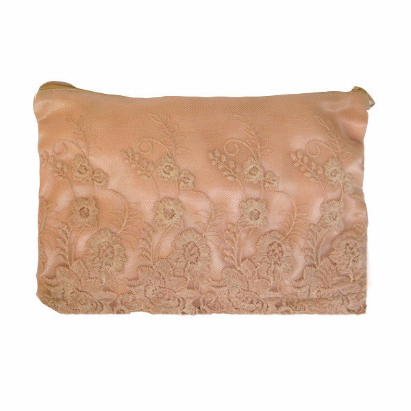 Miss Rose Sister Violet Satin & Lace Zippered Bag - Pink, MRSV-Miss Rose Sister Violet, Putti Fine Furnishings